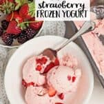 Strawberry Frozen Yogurt recipe