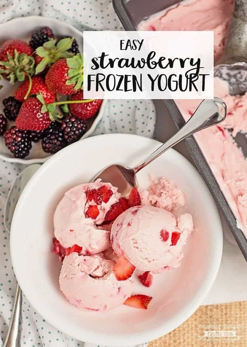 Easy Strawberry Frozen Yogurt