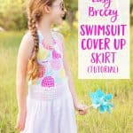 How to sew a quick and easy swimsuit cover up skirt!