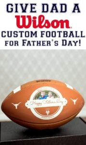Give your football fan a Wilson Custom Football! It's a perfect gift for Fathers, Day, birthdays and even a graduation gift.