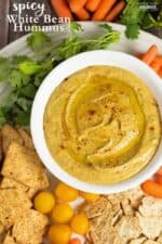 Power Snacks: Spicy White Bean Hummus