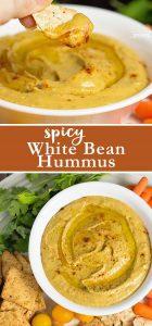 Power Snack: Spicy White Bean Hummus