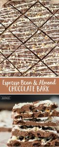 This Espresso Bean and Almond Chocolate Bark is the perfect treat for anyone who loves coffee and chocolate!