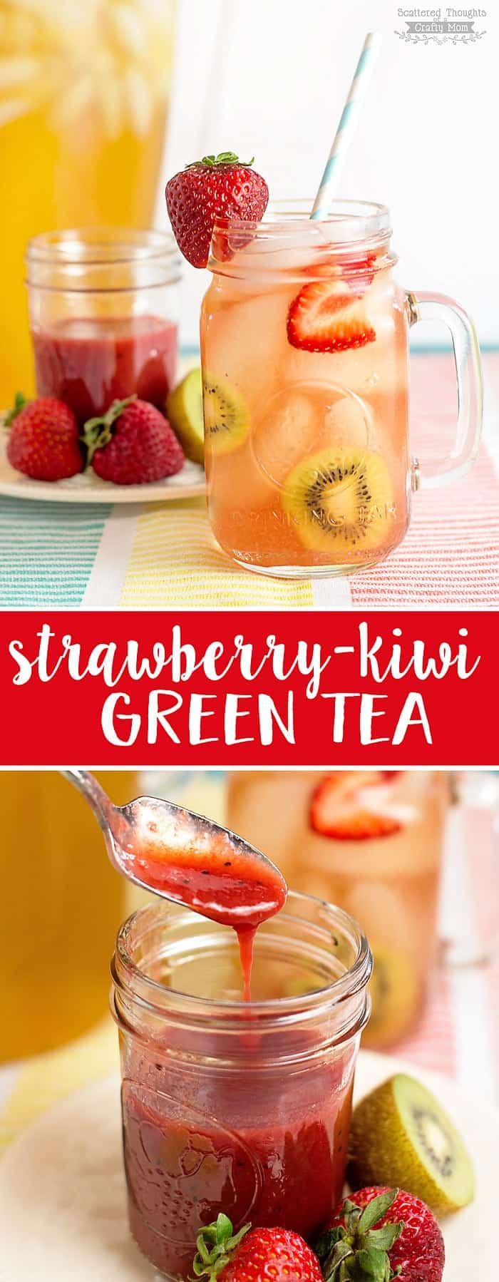 Make the switch to green tea a little easier (and yummier) with this DIY Strawberry-Kiwi Green Tea Recipe!