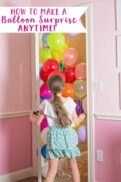 How to Make a Birthday Balloon Surprise! (DIY Balloon Avalanche)