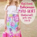 Bohemian Maxi Skirt Tutorial (sz 3 to 12)
