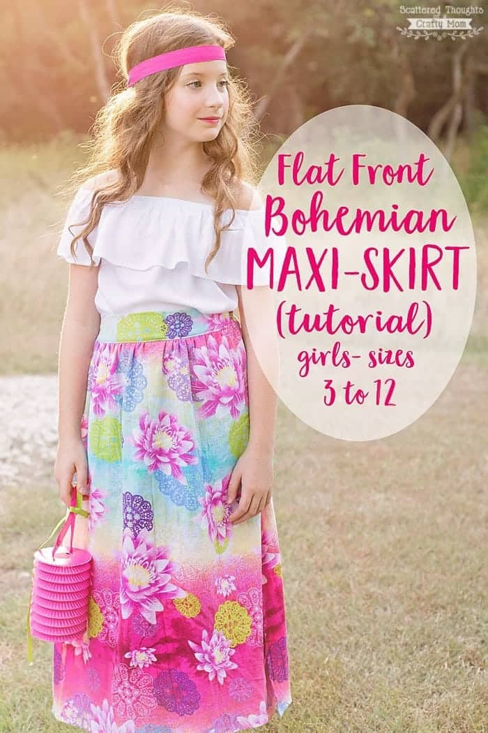 Bohemian Maxi Skirt Tutorial
