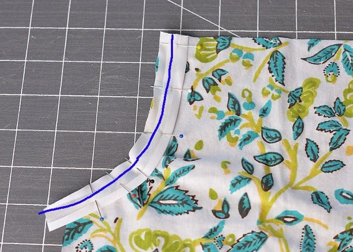 how to add bias tape to an armhole