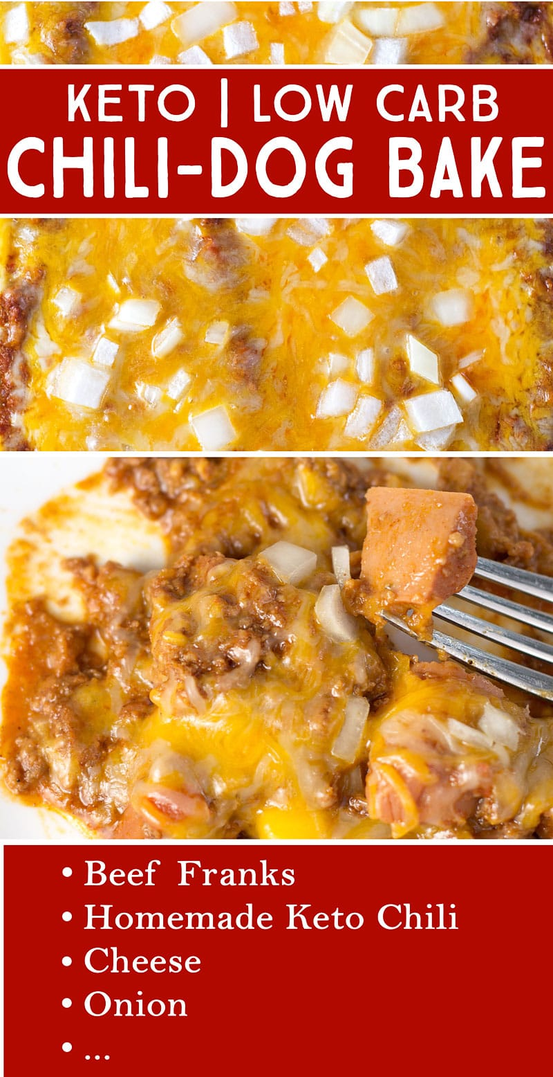 Keto Chili Dog Casserole