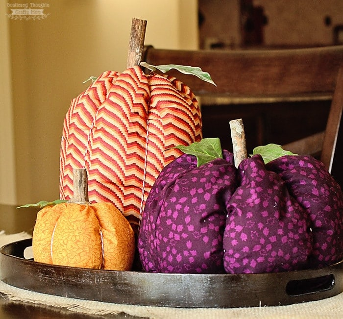 How to make Fabric Pumpkins (the easy way)