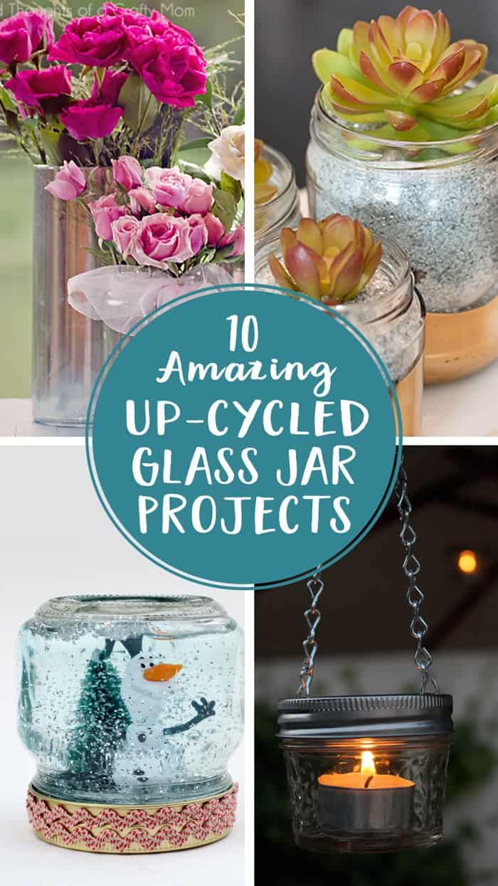 10 Amazing Upcycled Glass Jar Projects
