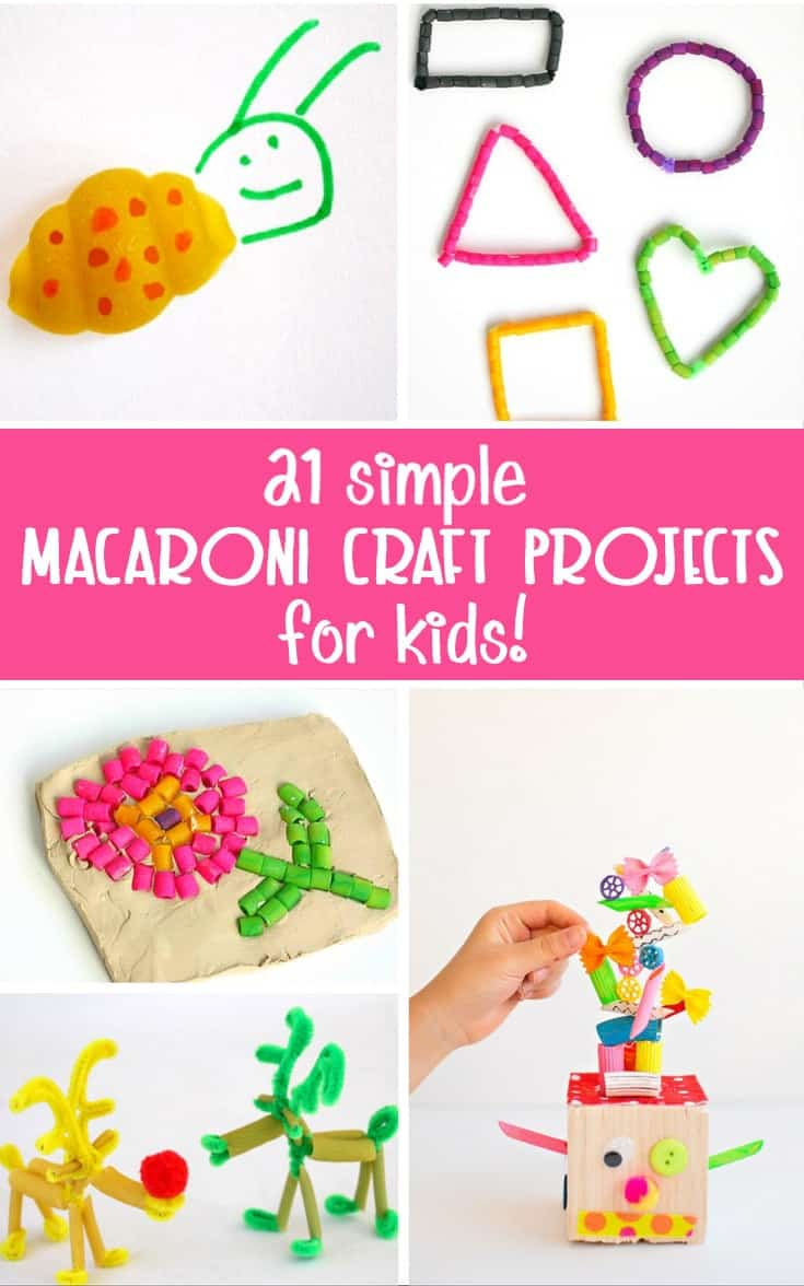 Crafts from macaroni own hands. Fun for children and adults