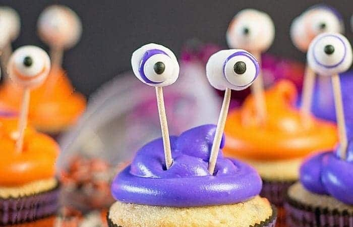 Easy Monster Cupcakes for Halloween