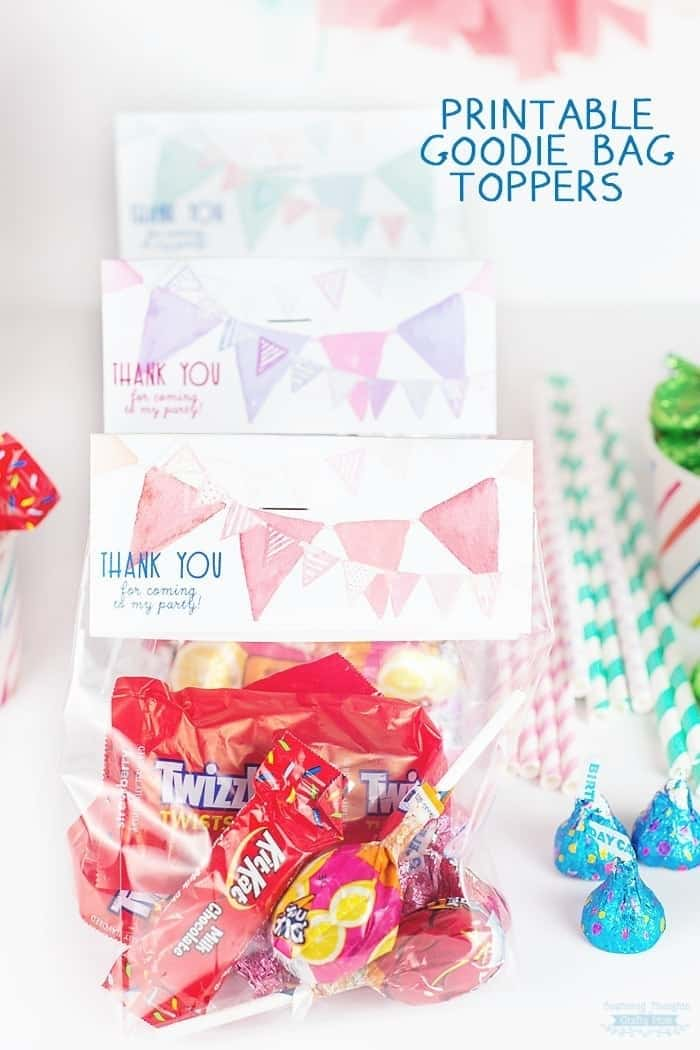 Free Printable For Your Birthday Party Thank You Goo Bag Toppers