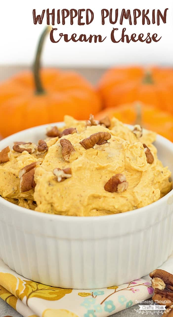 DIY Whipped Pumpkin Cream Cheese - perfect on bagels, toast, waffles and so much more!