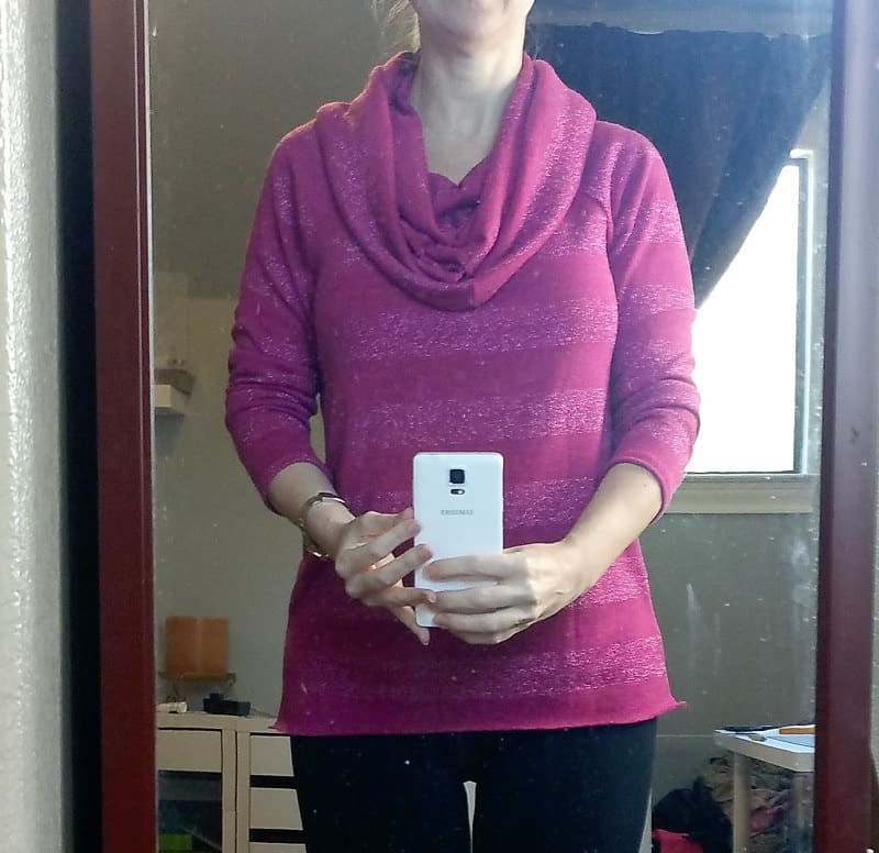 How to Sew a Cowl Neck Top (pattern hack) - Scattered Thoughts of ...