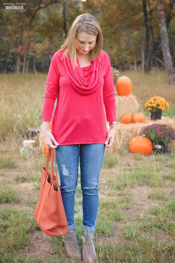 How to Sew a Cowl Neck Top, free sewing patterns