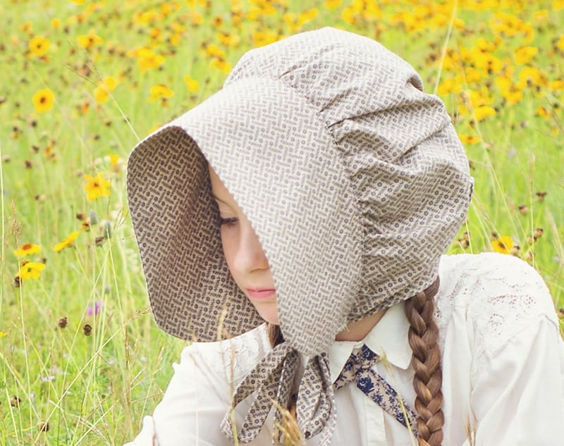 Cutest Little House On The Prairie Pioneet Costume And Bonnet Tutorial
