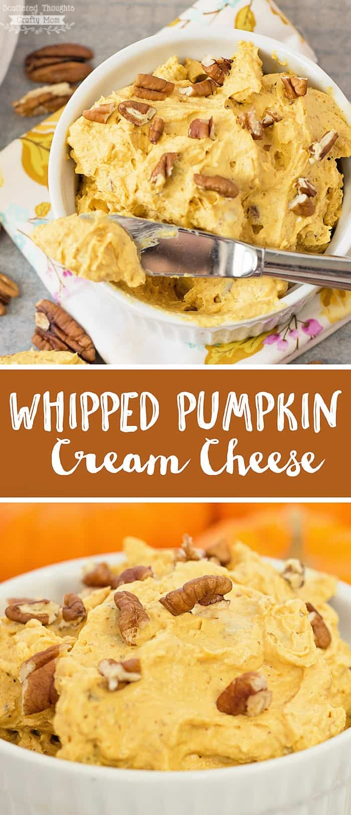 This Whipped Pumpkin Cream Cheese Recipe has all the flavors of fall and is the perfect topping for bagels, waffles and so much more!
