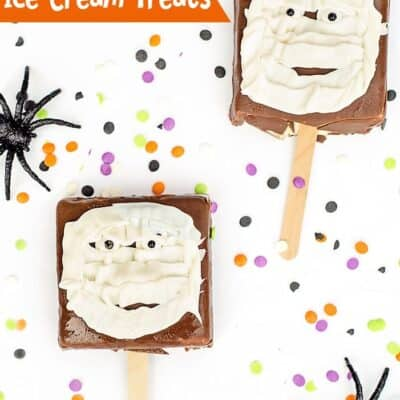 Easy Mummy Ice Cream Treats for Halloween!