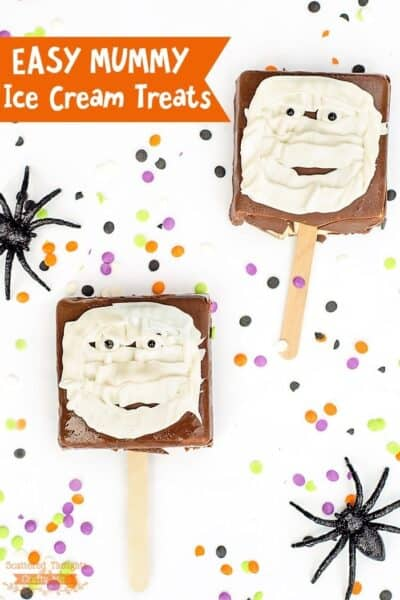 Easy Mummy Ice Cream Treats