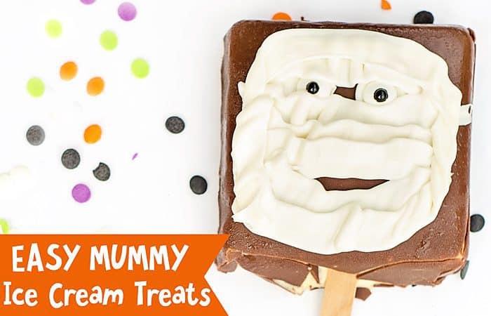 Easy Mummy Ice Cream Treats