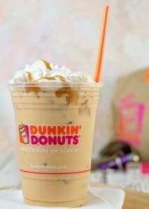 Don't miss the new Salted Caramel coffee, latte, and macchiato flavor available at your local Dunkin' Donuts!