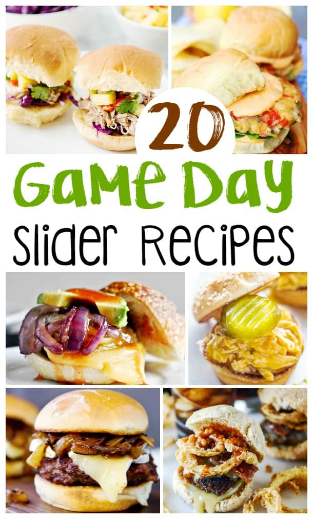 20 of the best Game Day Slider Recipes