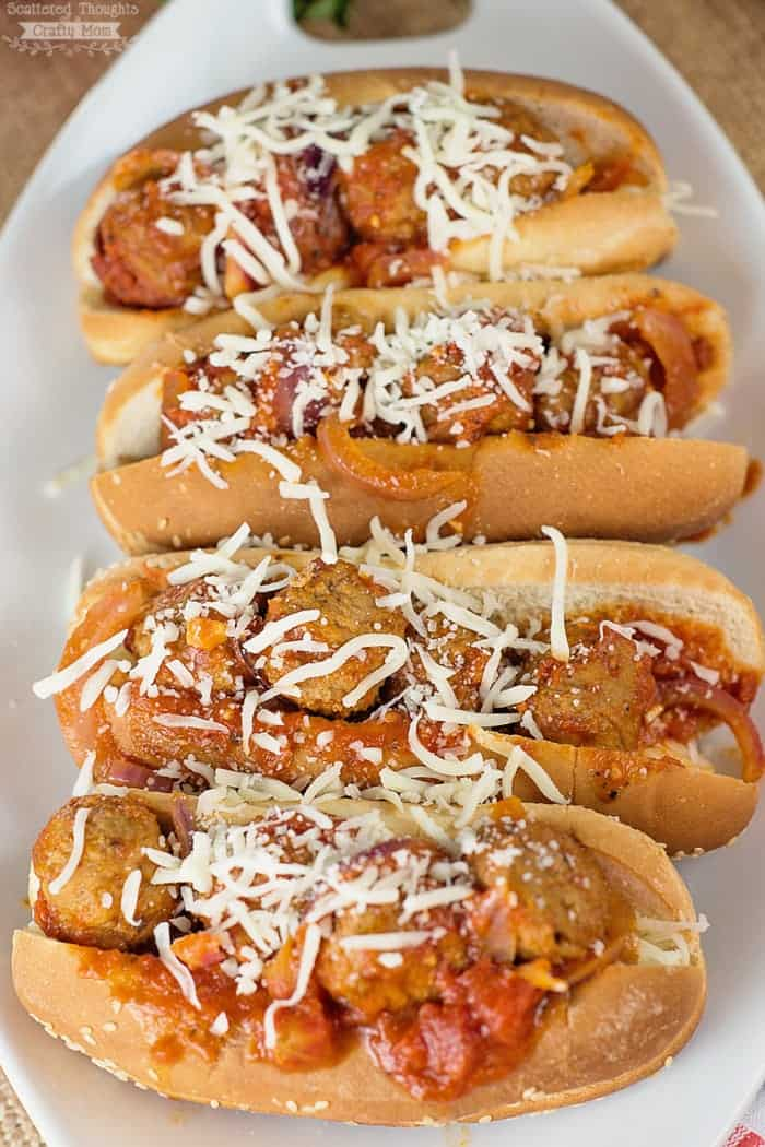 Easy Crock Pot Meatball Subs. The perfect quick and easy slow cooker meal for busy nights!