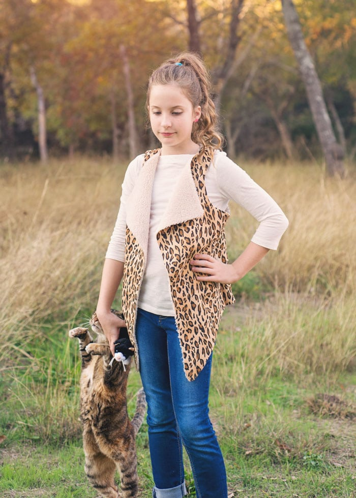 how to make a faux shearling vest