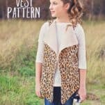 Free Faux Shearling Vest for Girls Sewing Pattern