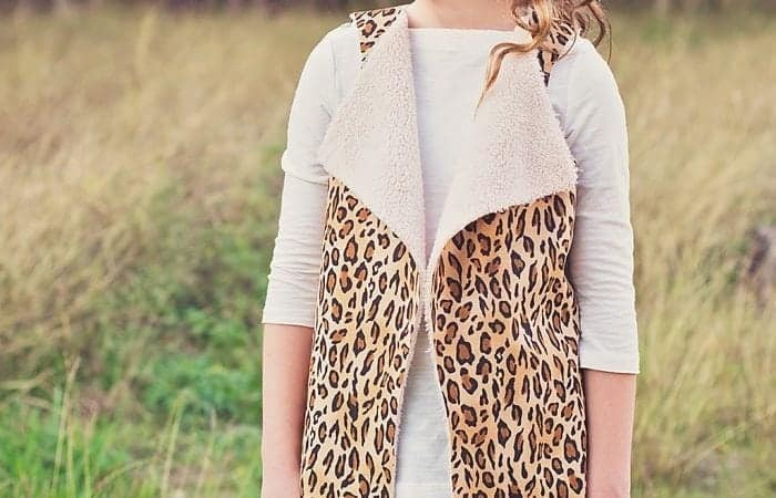 Video Sewing Tutorial For Faux Shearling Vest Pattern