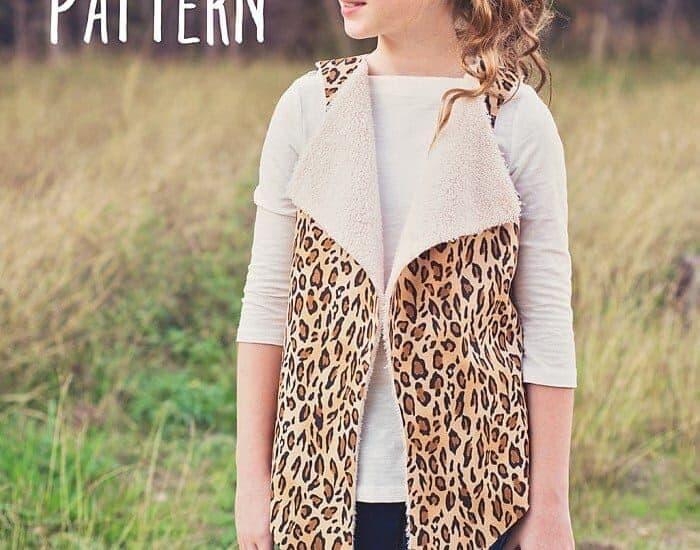 Girls Faux Shearling Vest Pattern (sz 3 to 10)
