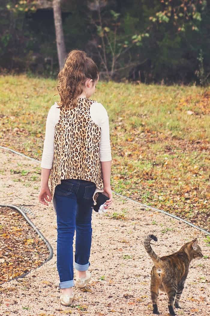 Girls Faux Shearling Vest Pattern