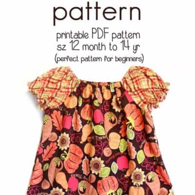 Learn how to sew a peasant dress With this free peasant dress pattern (size 12 month to 14 yr)