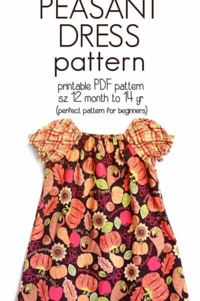 Learn how to Sew a Peasant Dress with this free Pattern (sz 12 mo to 14y)