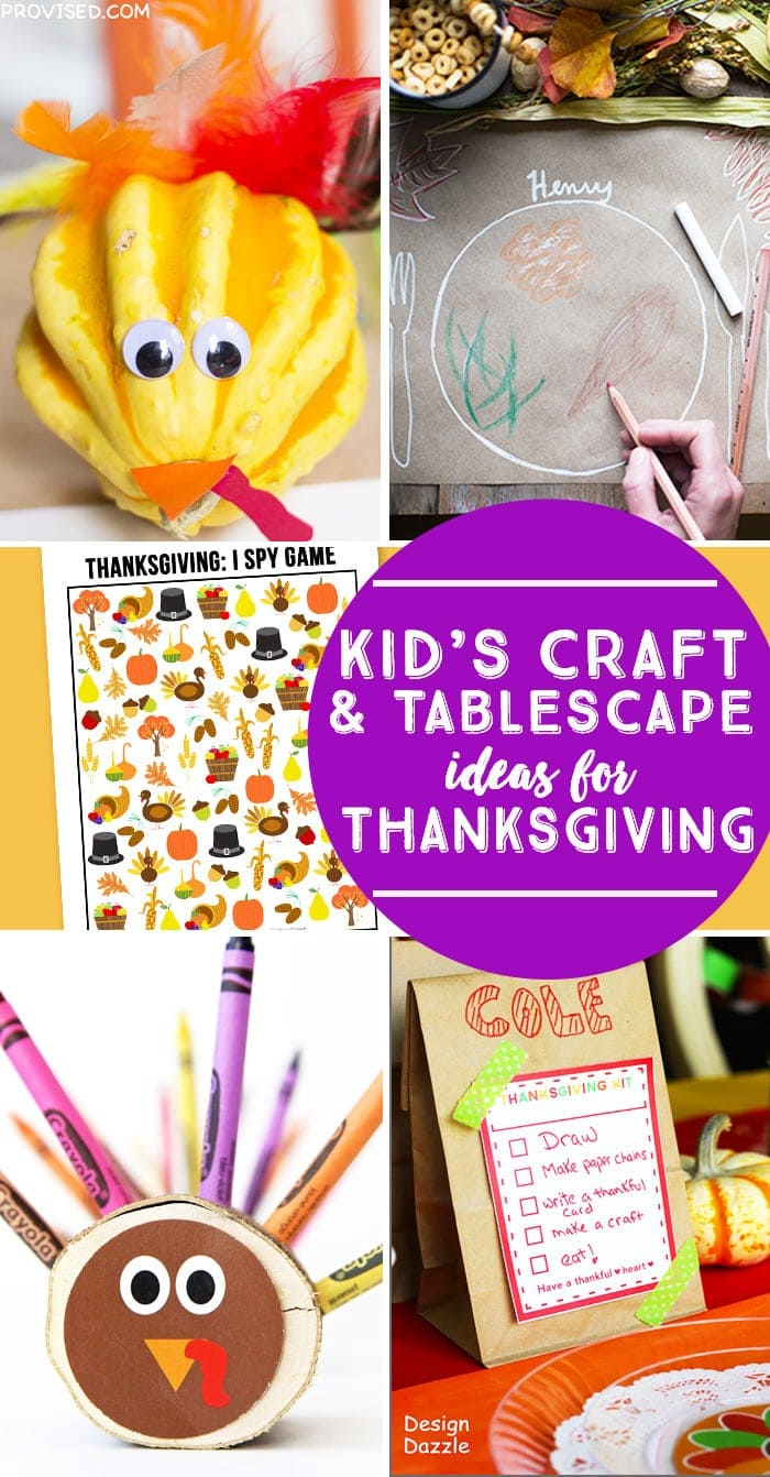 25 Kids Craft and Tablescape Ideas for Thanksgiving