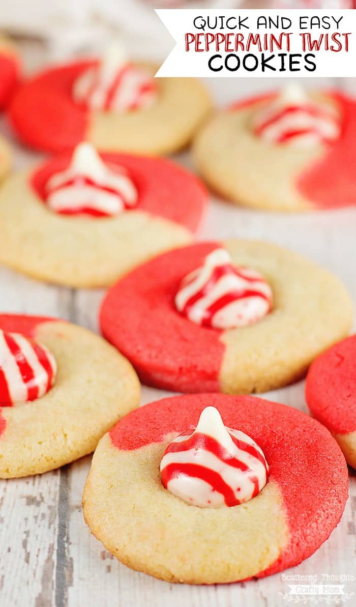 Quick and Easy Peppermint Twist Cookies