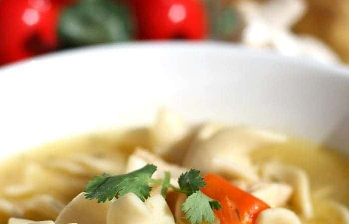 How to Make Homemade Chicken Noodle Soup (from a whole chicken)