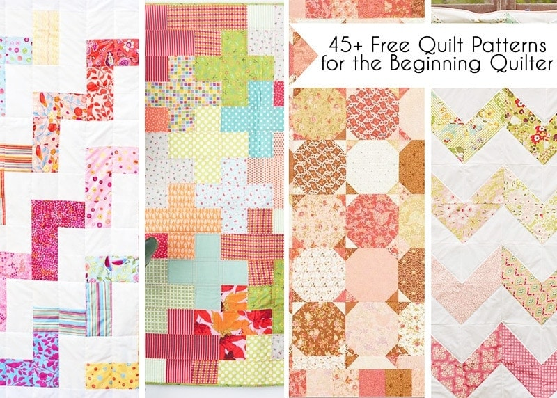 40 Free Easy Quilt Patterns Perfect For Beginners Scattered Adorable Free Quilting Patterns