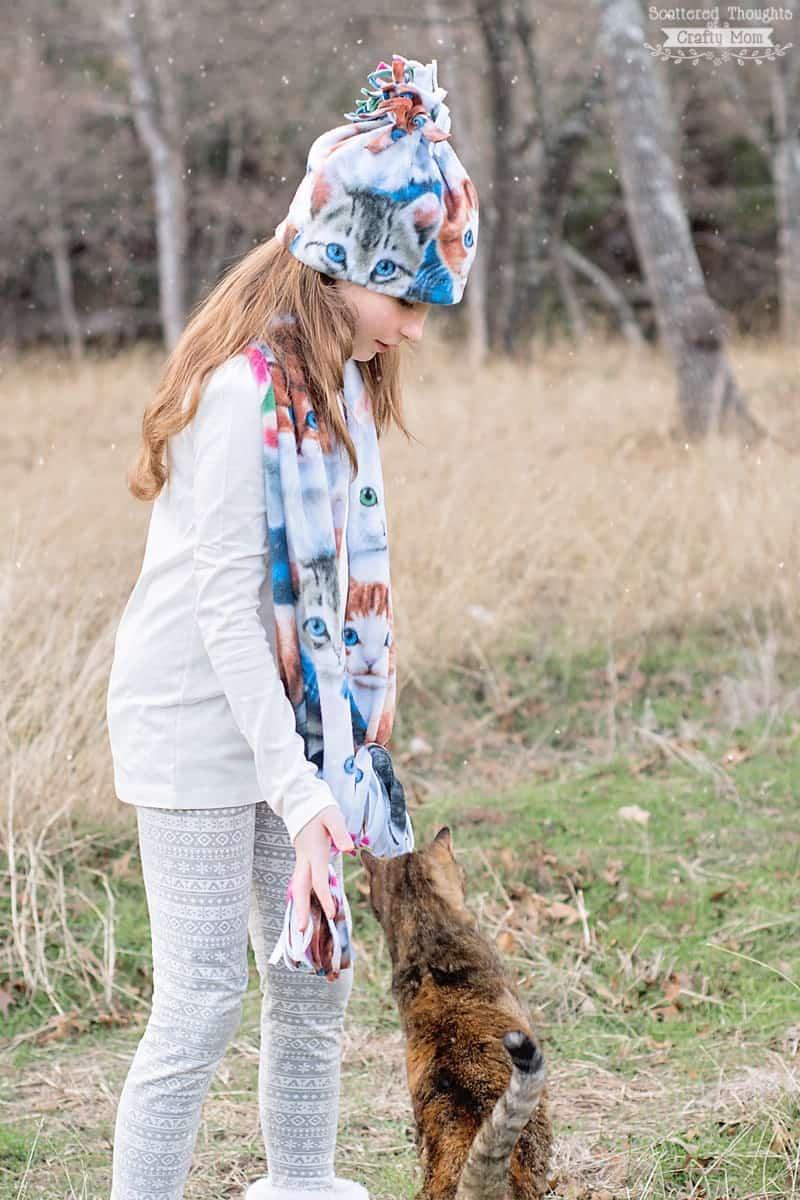 How to Sew a Fleece Hat and Scarf.