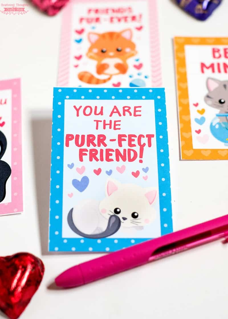 Free Printable Kitty Valentine Card