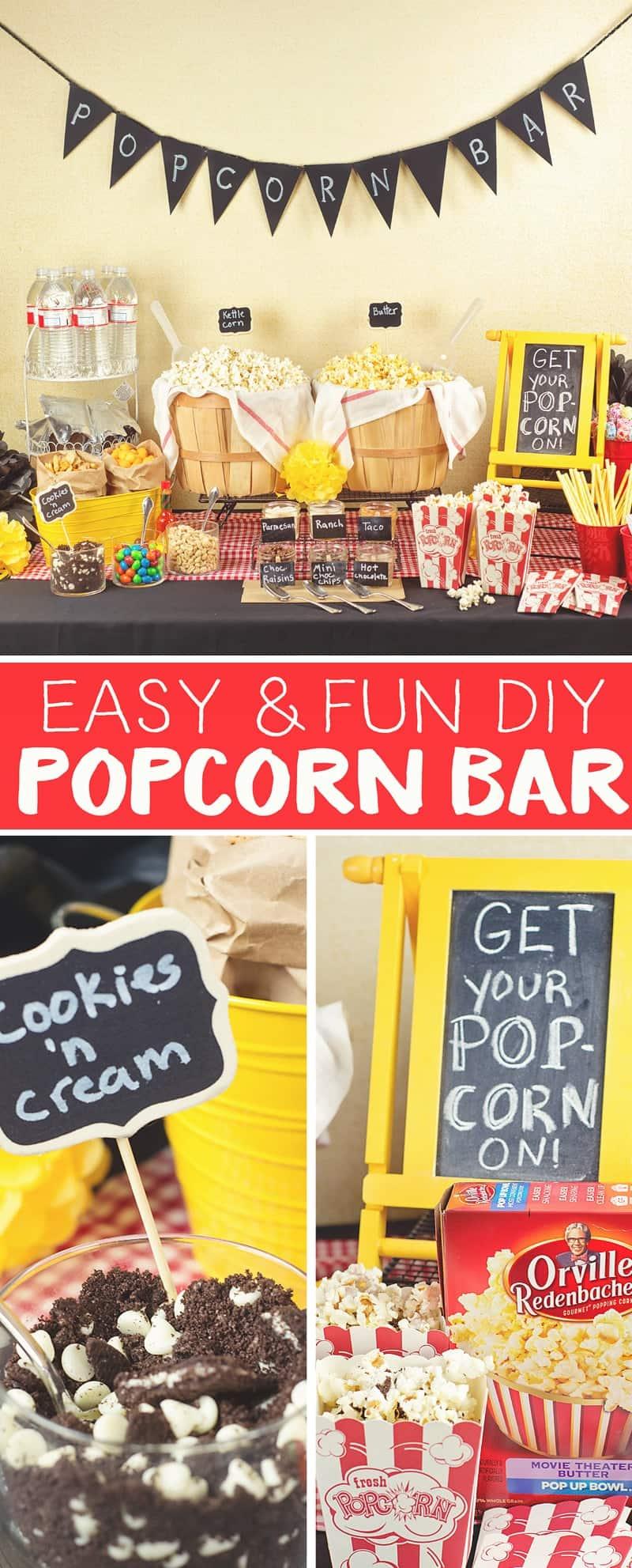 DIY Popcorn Bars are