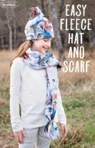 Easy Fleece Hat and Scarf Tutorial