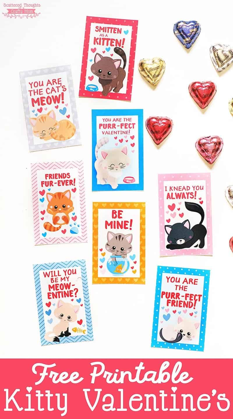 Free Printable Kitten Valentines Scattered Thoughts Of A Crafty