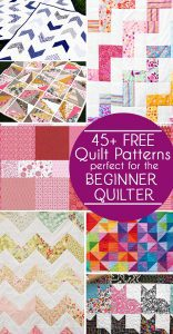 45 Free Quilt patterns for the Beginner Quilter, free easy quilt patterns