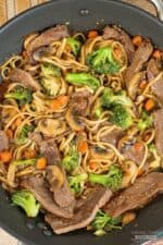Teriyaki Beef and Broccoli with Udon Noodles