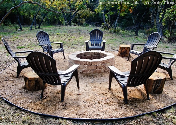 How to make an easy outdoor fire pit
