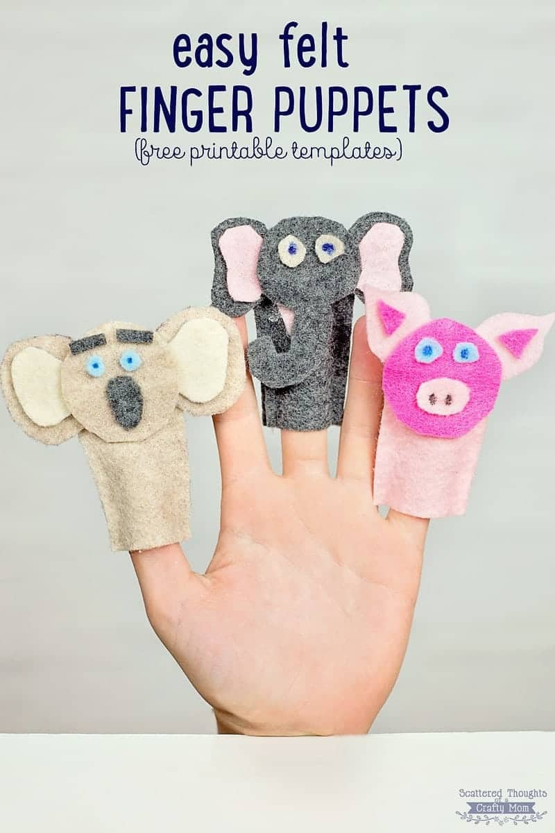 How to make Felt Finger Puppets (free printable template included)