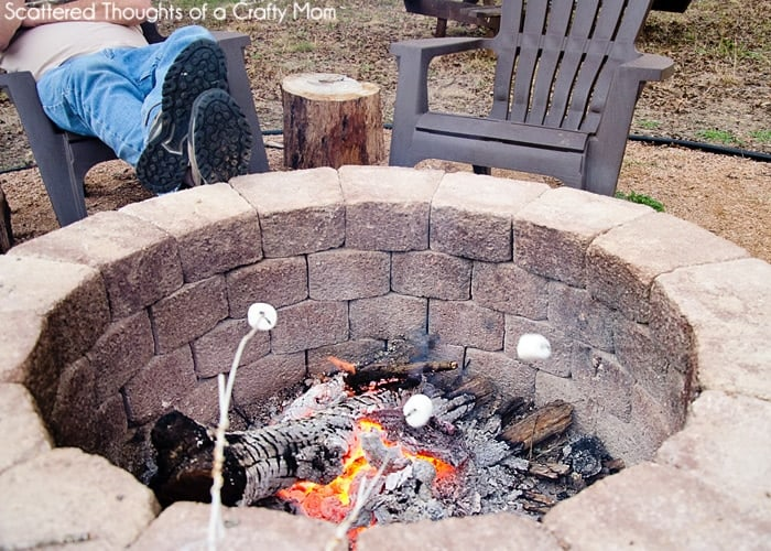 build a firepit, easy fire pit DIY